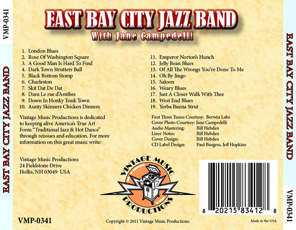 CD: East Bay City Jazz Band, with Jane Campedelli